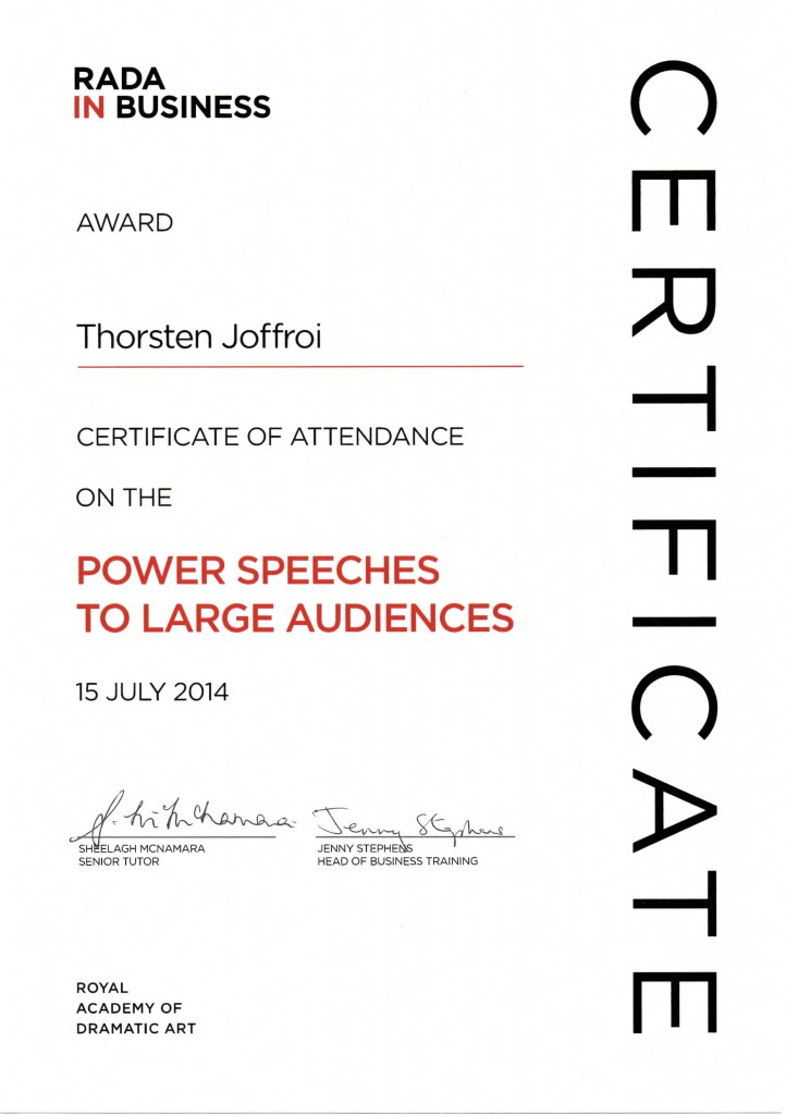Thorsten Joffroy, Power-Speeker