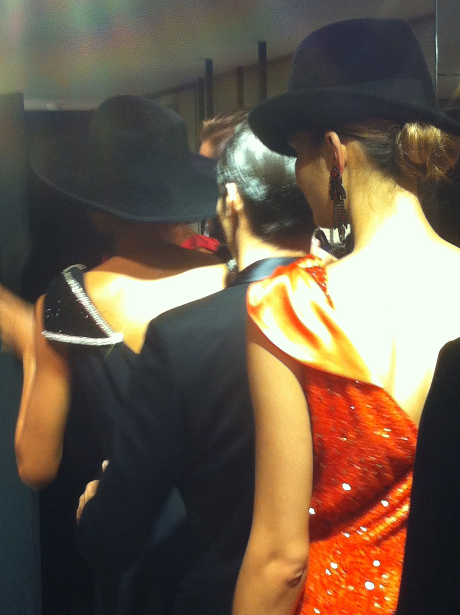 Backstage Armani Show