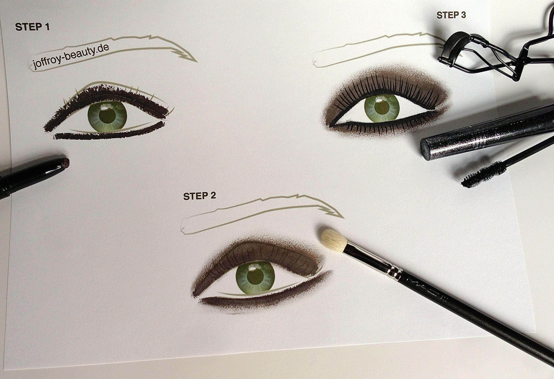 Smokey Eyes - Step 1-3 - joffroy-beauty.de
