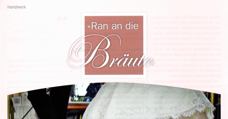 "Fachartikel ""Ran an die Bräute"" in Kosmetik & Pflege.Mai 17"
