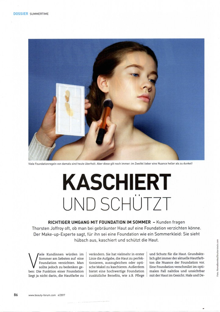 Hot Hot Summer - Fachartikel in der Beauty Forum 04/ 2017