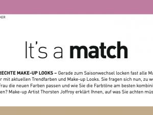 It´s a Match - Wie Sie Ihren individuellen Farbtyp bestimmen